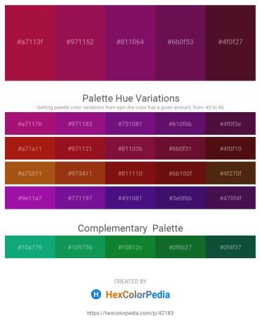 Palette image download - Firebrick – Medium Violet Red – Purple – Purple – Cadet Blue