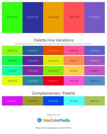 Palette image download - Lime – Dark Slate Blue – Orange – Tomato – Slate Blue