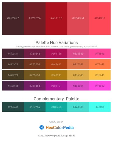 Palette image download - Blue – Brown – Firebrick – Indian Red – Tomato