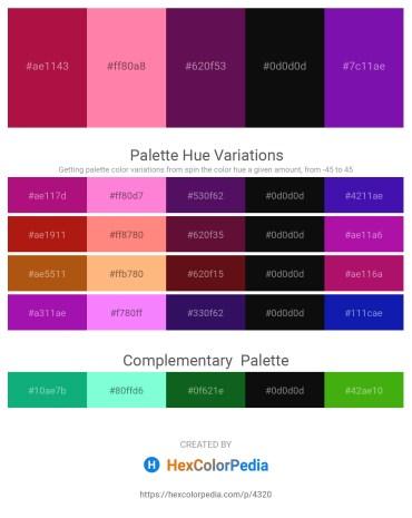 Palette image download - Crimson – Hot Pink – Purple – Black – Dark Violet