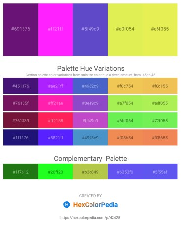 Palette image download - Midnight Blue – Magenta – Slate Blue – Khaki – Khaki