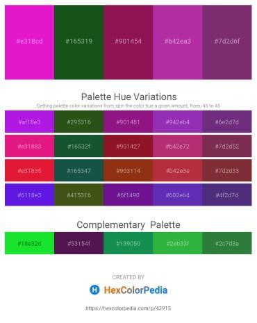 Palette image download - Medium Violet Red – Forest Green – Black – Medium Violet Red – Indigo