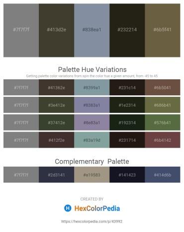 Palette image download - Gray – Slate Gray – Light Slate Gray – Dim Gray – Dark Olive Green