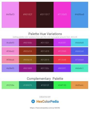 Palette image download - Medium Orchid – Firebrick – Dim Gray – Magenta – Cornflower Blue