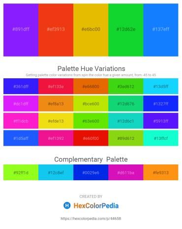 Palette image download - Dark Violet – Orange Red – Orange – Lime – Dodger Blue