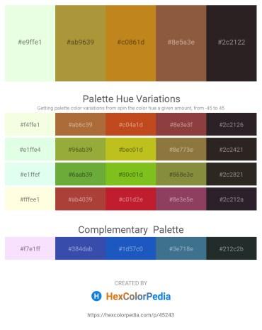 Palette image download - Honeydew – Peru – Chocolate – Sienna – Black