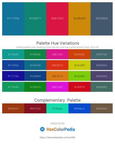 Palette image download - Dark Cyan – Teal – Crimson – Dark Goldenrod – Dark Slate Gray