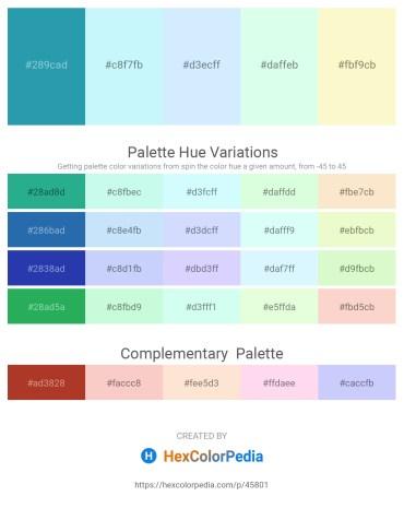 Palette image download - Light Sea Green – Light Cyan – Light Cyan – Mint Cream – Light Goldenrod Yellow