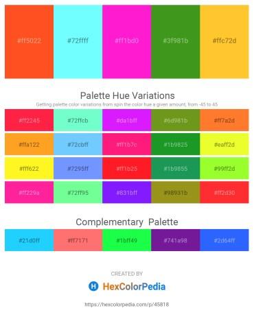 Palette image download - Orange Red – Aquamarine – Magenta – Forest Green – Gold