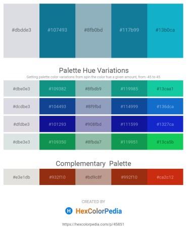 Palette image download - Light Steel Blue – Dark Cyan – Cadet Blue – Dim Gray – Light Sea Green