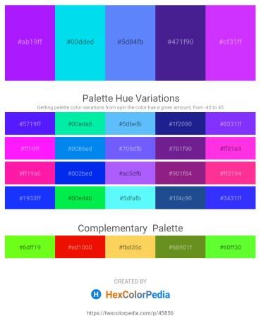 Palette image download - Dark Violet – Dark Turquoise – Cornflower Blue – Midnight Blue – Dark Violet