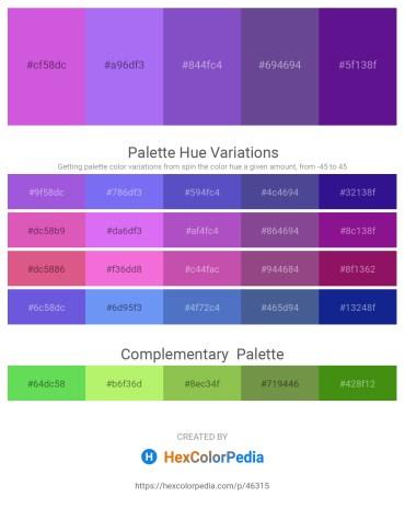 Palette image download - Medium Orchid – Medium Slate Blue – Slate Blue – Dark Slate Blue – Indigo