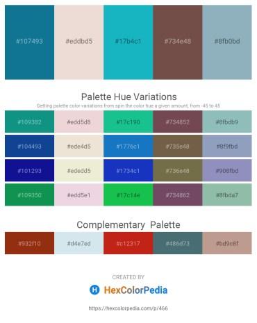 Palette image download - Dark Cyan – Beige – Light Sea Green – Dim Gray – Cadet Blue