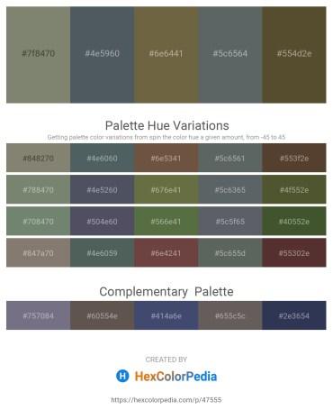 Palette image download - Gray – Dark Slate Gray – Dark Olive Green – Slate Gray – Dark Olive Green