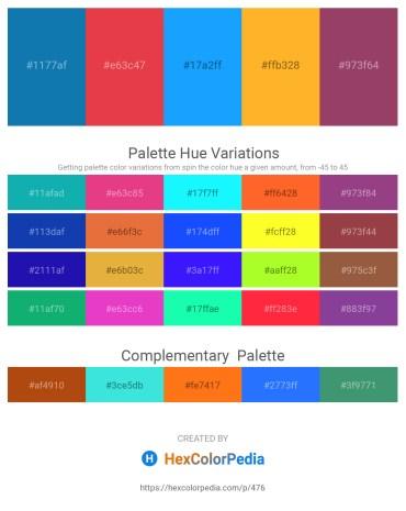 Palette image download - Dark Cyan – Crimson – Dodger Blue – Orange – Forest Green