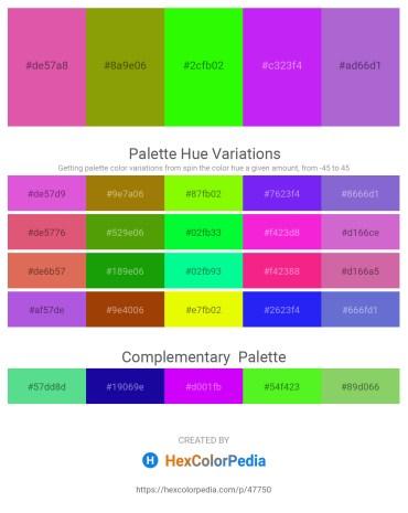 Palette image download - Pale Violet Red – Olive – Lime – Blue Violet – Medium Orchid