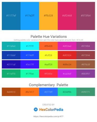 Palette image download - Dark Cyan – Dodger Blue – Orange – Medium Violet Red – Forest Green