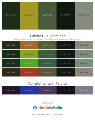 Palette image download - Blue – Olive Drab – Dark Olive Green – Dark Slate Gray – Gray