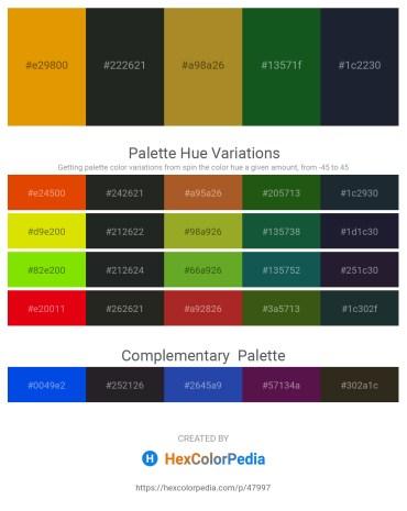Palette image download - Orange – Dark Slate Gray – Peru – Forest Green – Blue