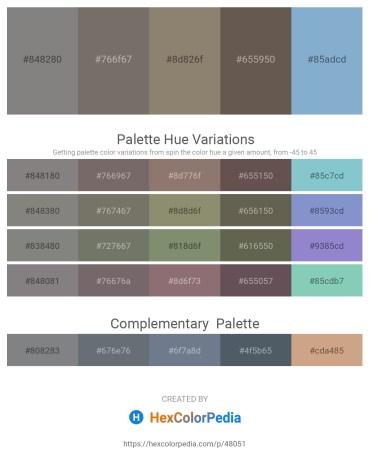 Palette image download - Gray – Dim Gray – Gray – Dim Gray – Light Steel Blue