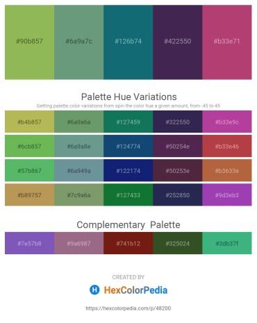 Palette image download - Dark Khaki – Cadet Blue – Teal – Dark Slate Blue – Indian Red