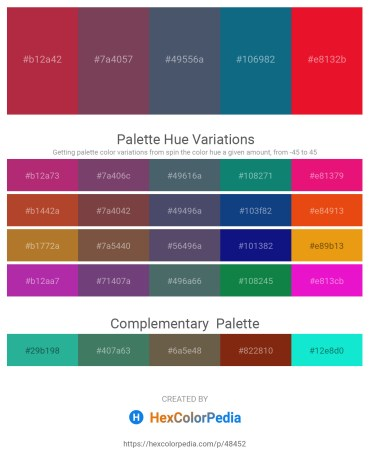 Palette image download - Brown – Dark Slate Gray – Dark Slate Gray – Teal – Crimson