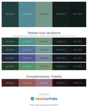 Palette image download - Dark Slate Gray – Cadet Blue – Light Slate Gray – Dark Slate Gray – Dark Slate Gray