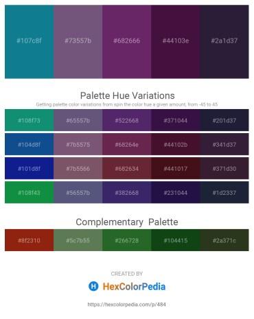 Palette image download - Dark Cyan – Lawn Green – Deep Pink – Midnight Blue – Dark Orange