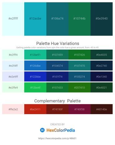 Palette image download - Light Cyan – Light Sea Green – Teal – Forest Green – Black