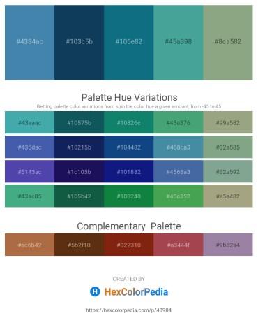 Palette image download - Steel Blue – Midnight Blue – Teal – Dark Olive Green – Dark Sea Green