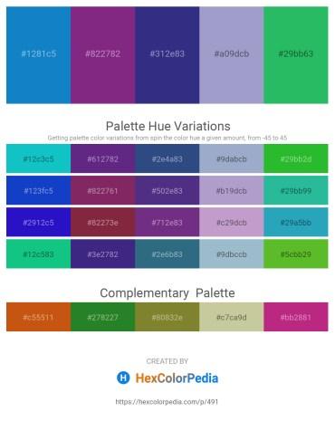 Palette image download - Dark Cyan – Dark Slate Blue – Dark Slate Blue – Light Steel Blue – Medium Sea Green