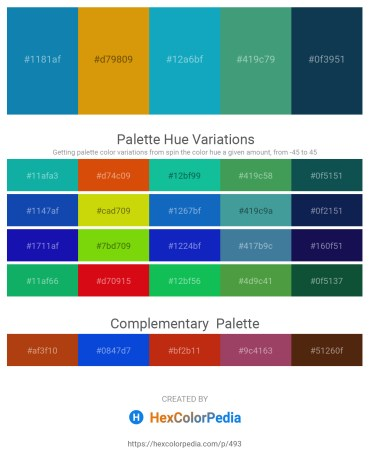 Palette image download - Dark Cyan – Dark Goldenrod – Light Sea Green – Medium Sea Green – Midnight Blue