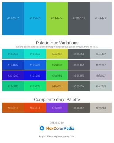 Palette image download - Dark Cyan – Deep Sky Blue – Yellow Green – Dark Slate Gray – Light Steel Blue