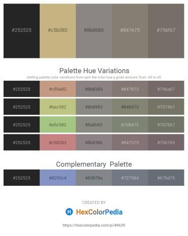 Palette image download - Black – Dark Khaki – Gray – Gray – Dim Gray