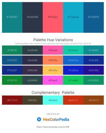 Palette image download - Dark Cyan – Dark Slate Gray – Tomato – Light Sea Green – Dark Turquoise
