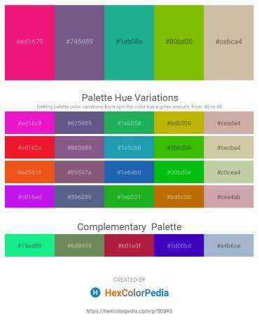 Palette image download - Medium Violet Red – Indian Red – Light Sea Green – Purple – Tan