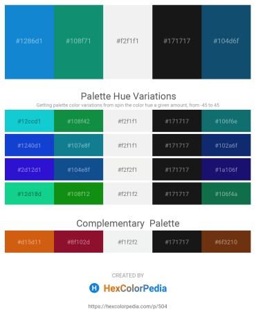 Palette image download - Light Sea Green – Dark Cyan – White Smoke – Black – Midnight Blue