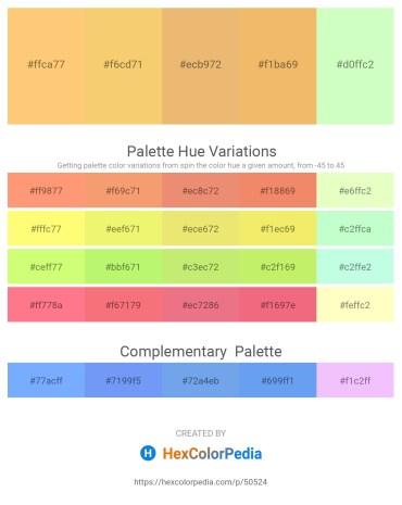 Palette image download - Light Salmon – Sandy Brown – Dark Salmon – Sandy Brown – Honeydew
