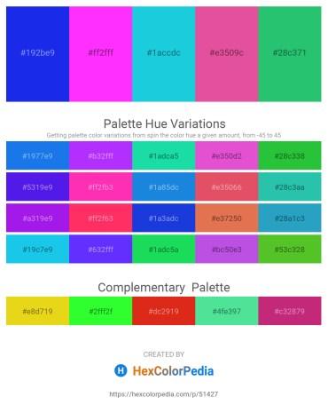 Palette image download - Blue – Magenta – Turquoise – Pale Violet Red – Medium Sea Green