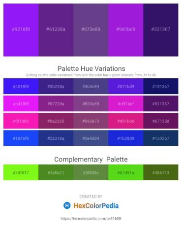 Palette image download - Dark Violet – Midnight Blue – Dark Slate Blue – Blue Violet – Midnight Blue