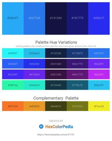 Palette image download - Dodger Blue – Royal Blue – Midnight Blue – Midnight Blue – Blue