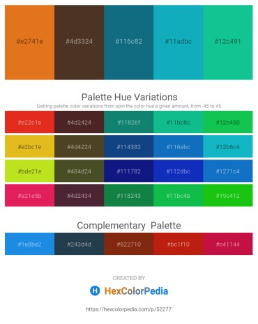 Palette image download - Chocolate – Pale Violet Red – Teal – Light Sea Green – Light Sea Green
