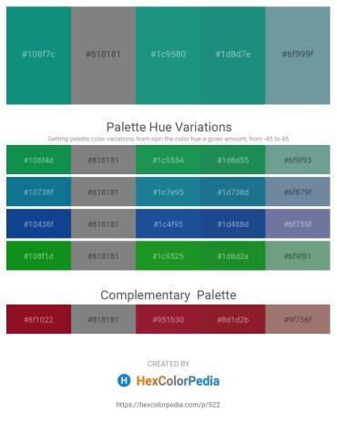 Palette image download - Dark Cyan – Gray – Light Sea Green – Light Sea Green – Cadet Blue