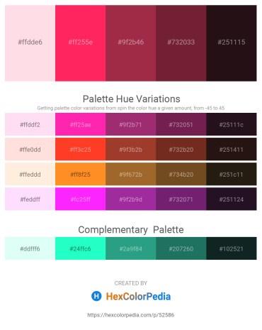 Palette image download - Misty Rose – Deep Pink – Brown – Brown – Black