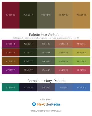 Palette image download - Purple – Firebrick – Dim Gray – Dark Khaki – Peru