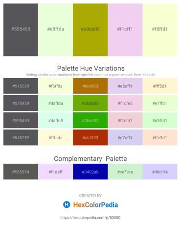 Palette image download - Slate Gray – Honeydew – Dark Goldenrod – Plum – Lemon Chiffon