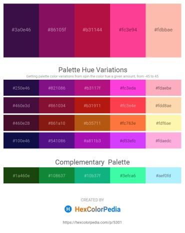 Palette image download - Midnight Blue – Purple – Crimson – Deep Pink – Light Pink