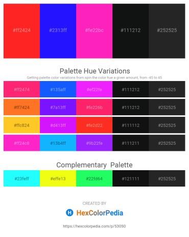 Palette image download - Red – Blue – Deep Pink – Dark Orange – Black