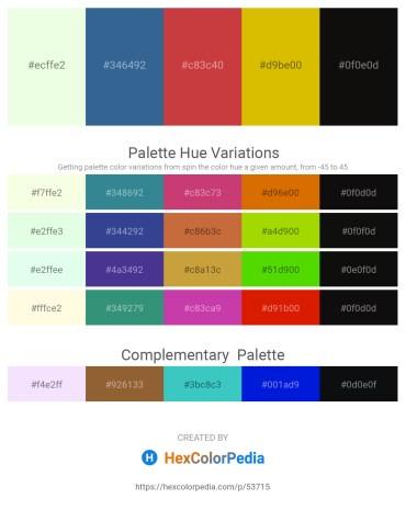 Palette image download - Honeydew – Steel Blue – Indian Red – Gold – Black