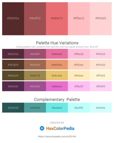 Palette image download - Saddle Brown – Sienna – Light Coral – Light Pink – Misty Rose